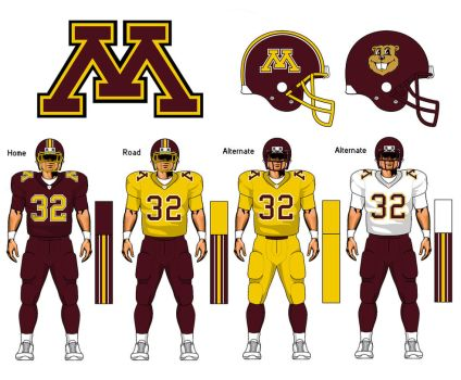 Minnesota Golden Gophers uniform concept by TheGreatKtulu