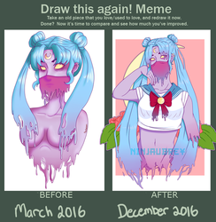 Sailor Slime Before And After by NinjAubrey