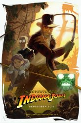 The adventures of Indiana Jones animated poster by PatrickSchoenmaker