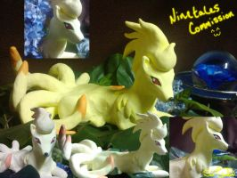 Clay Ninetales Commission by Sara121089