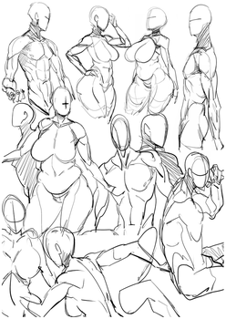 Practice Bodies 020 by ManiacPaint