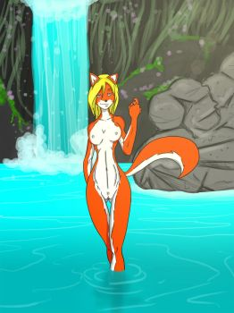 Naked Fox is naked by lonelion4ever