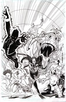 Justice League America cover #29 by BroHawk