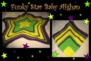 Funky Star Baby Afghan by DragonKissses