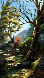 forest on a hill by calisto-lynn