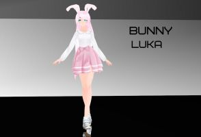 [MMD] Bunny Luka Dl by potato433