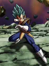 Vegeta SSGSS, with Background by hsvhrt