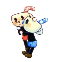 Cuphead And Mugman Chibi by LN-Polar