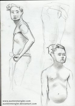 Life Drawing Session #3 - 01 by AustenMengler