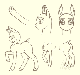 new semiofficial pony drawing style (mare) by Mittz-The-Trash-Lord