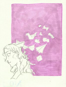 Thoughts like Paper Aeroplanes by Jie-n