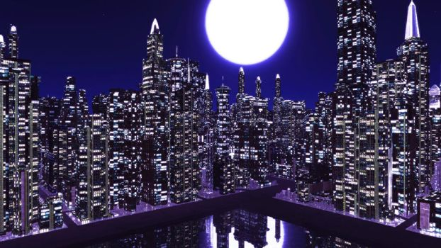 Night time City skydome stage MMD DOWNLOAD by Hack-Girl