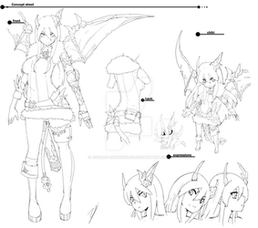 Maha Detailed Concept B/W by Asgard-Chronicles