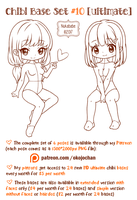 Chibi Pose Reference (Ultimate Chibi Base Set #10) by Nukababe