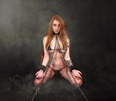 I'm your slave, by Lexlucas Swimsuit by FueledbypartII
