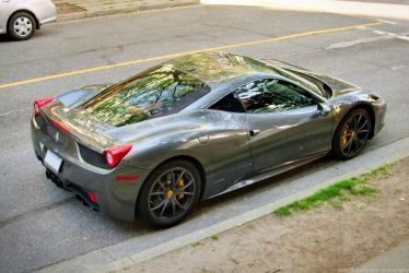 Grey 458 Italia by SeanTheCarSpotter