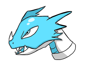 Ice Dragon Head Practice by LifeDragon17