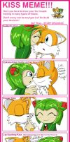 Kiss Meme_TailsXCosmo by WhiteRaven4