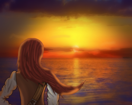 A pirate sunset by Duke-Dontalion