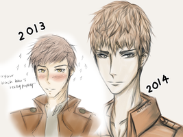 Improvement Meme: Jean Kirstein by Helenoodle