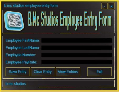Employee Entry Form by brianmccumber