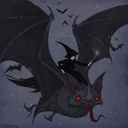 Drawlloween Bat by IrenHorrors