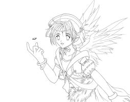 ...:::Lineart Angel:::... by Cannira