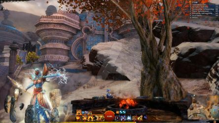 Guild Wars 2 Overlay | Chat Cover Elementalist by Ivysaura