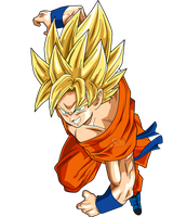 Goku SSJ Power by SaoDVD