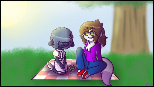What a nice day! ((art trade)) by little-kawaii-baka
