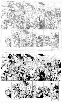 JLA2 pgs 2-3 ink sample by JonasTrindade