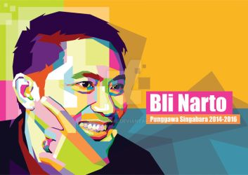 Commission Work Bli Narto in Pop Art Portrait by duniaonme