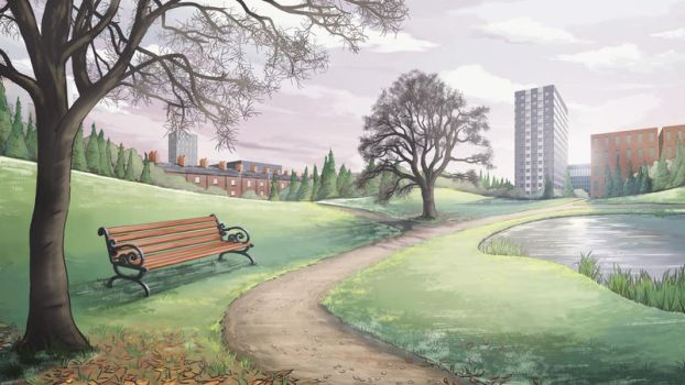 Suburban park in late autumn/ early winter by Twisted-Melody