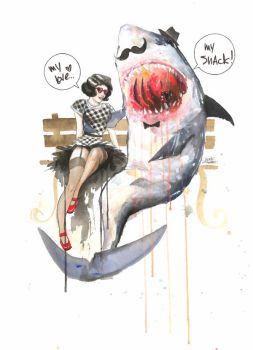 Mr. Shark by lora-zombie