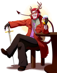 Samiel Dracolor the Tiefling Bard by EarthGwee