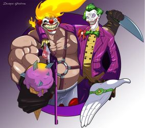 The Joker and Sweet Tooth by MightyGoodrum