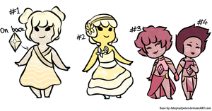 Selenite Gem Adopts [ CLOSED ] by TheoDarling