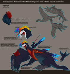 Creature Specimen: Placolarcornis by Avian-king