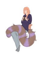 Coby with long hair 2 with tail by waywardJellyfish