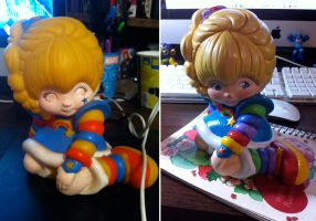 Vintage Rainbow Brite Toy Bank Repainted by kevinbolk