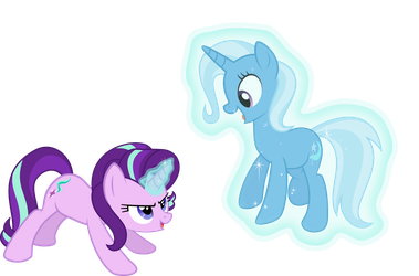 Vector 13 - Starlight levitating Trixie by WhalePornoz