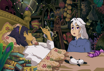 Howl's moving castle /Collab/ by Bakubara