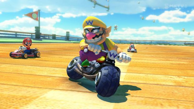 Wario and Mario competing at MK8 by jared33