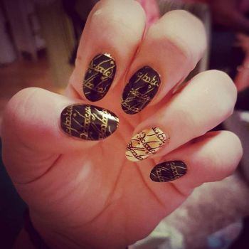 Geek nails by TheMadHattersMuse