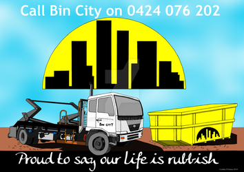 Bin City Promotional Poster by CynCinzia