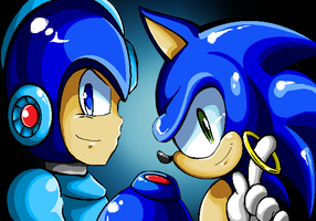 Blue Duo by 8-Bit-Britt