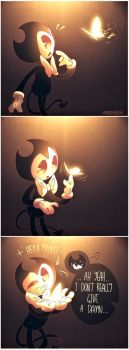 Lil Bendy And Butterfly by VanxllaVixen