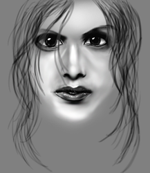Greyscale Face by MeDiKaTeD