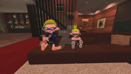 [splatoon,gmod]play an moblie game with my borther by jackobonnie1983