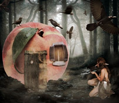 The Peach Queen of Ravens by MellieR